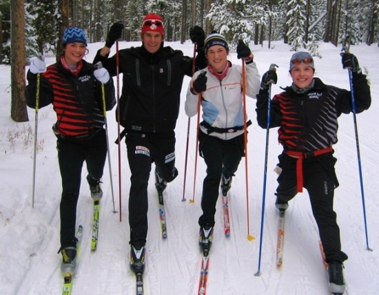 Kuzzy working with Duluth East skiers in West Yellowstone 2009