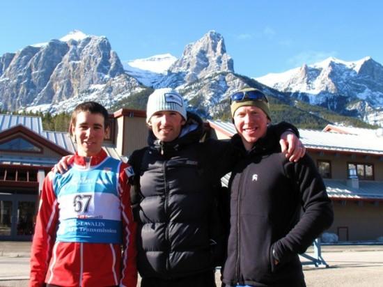 US Teammates Noah Hoffman, James Southam, and Mike Hinkley