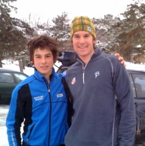 Jack & Kuzz - post-workout at Wirth this winter