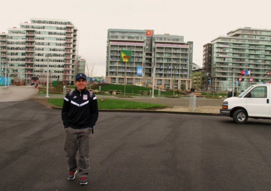 simi in the vancouver athletes village