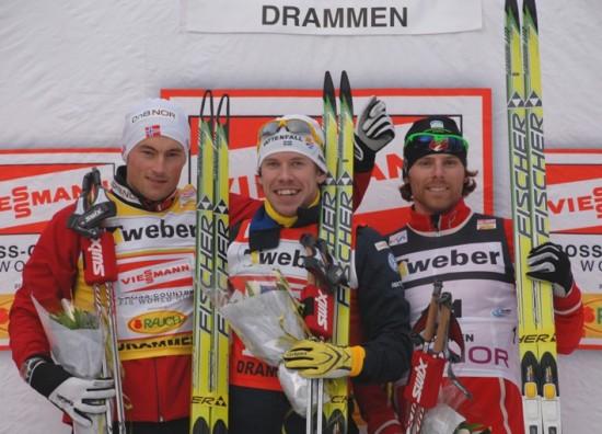 Northug, Jonsson, Newell - photo: worldcupdrammen.no